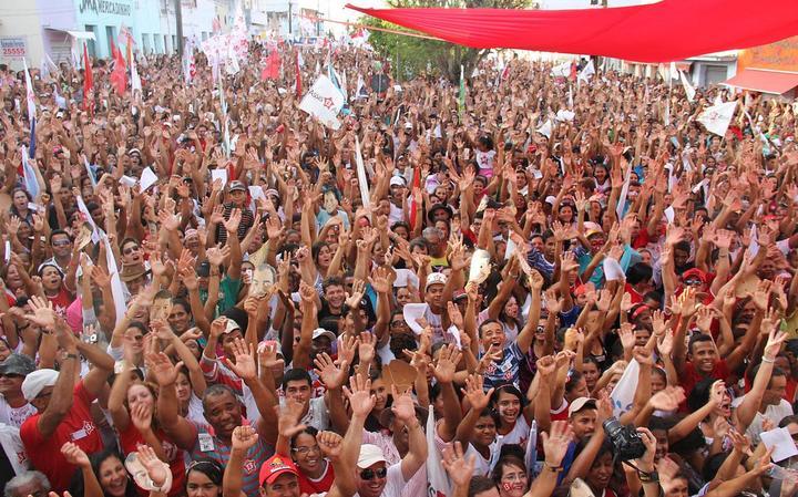 Comício do PT em Conceição do Coité, interior da Bahia, em 2012