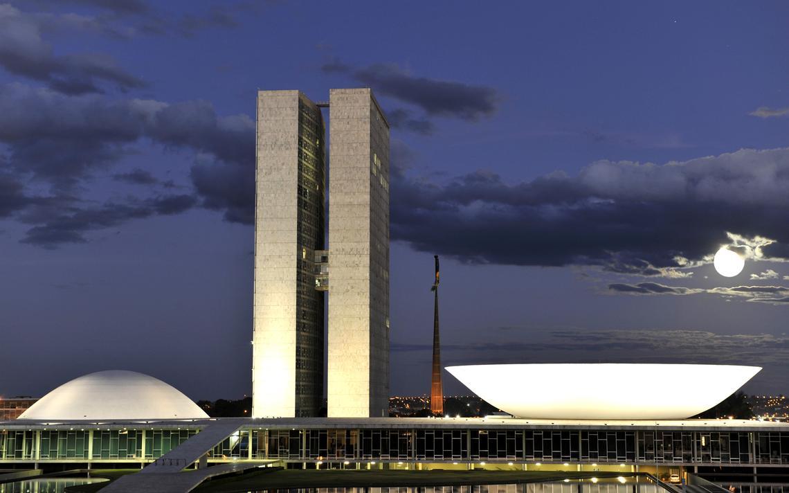 Prédio do Congresso Nacional, em Brasília, abriga a Câmara dos Deputados e o Senado