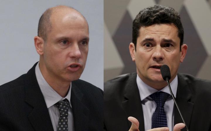 Juízes Fausto De Sanctis, em foto de 2008, e Sérgio Moro, em 2015
