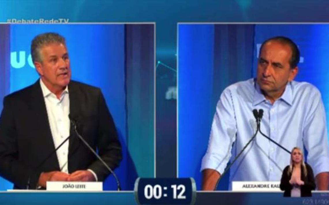 João Leite e Kalil durante debate na Rede TV