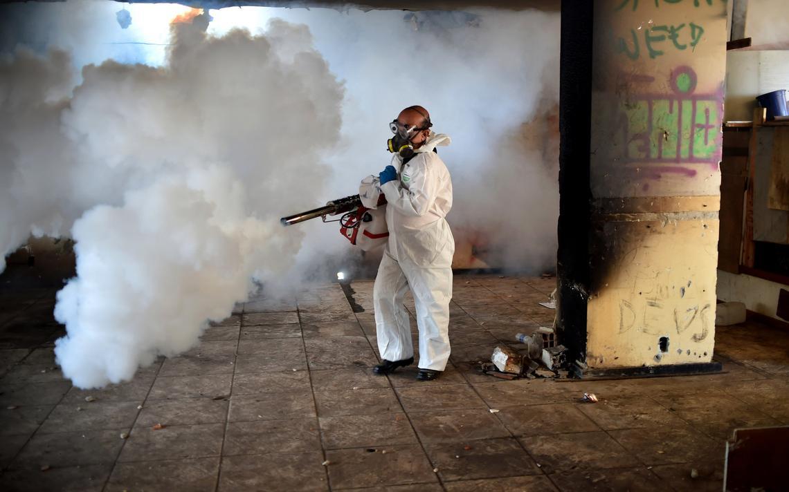 Dedetização em Brasília para combater o mosquito transmissor do zika vírus