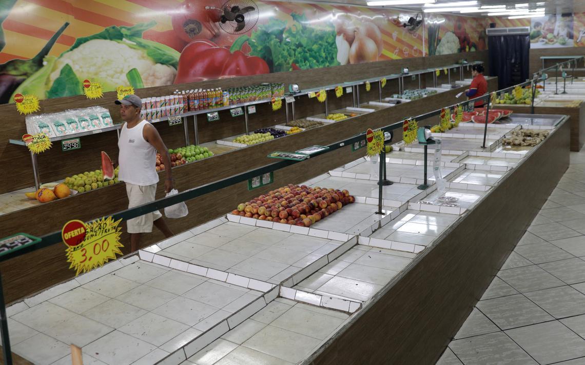 Mercado sem produtos no Rio de janeiro