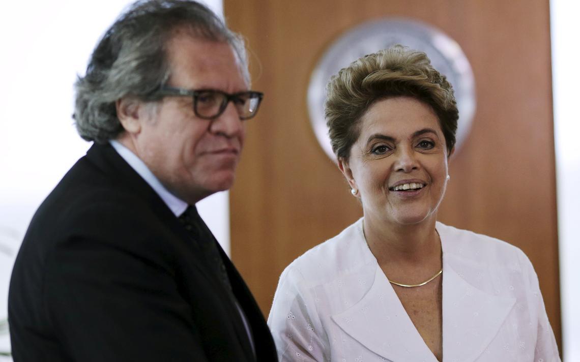Dilma e Almagro encontram-se em Brasília