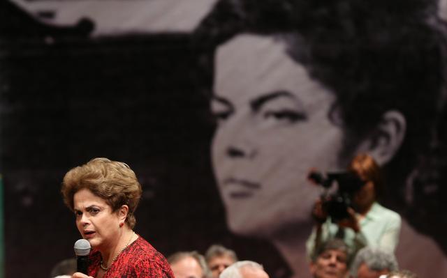 Presidente afastada, Dilma Rousseff participa de evento