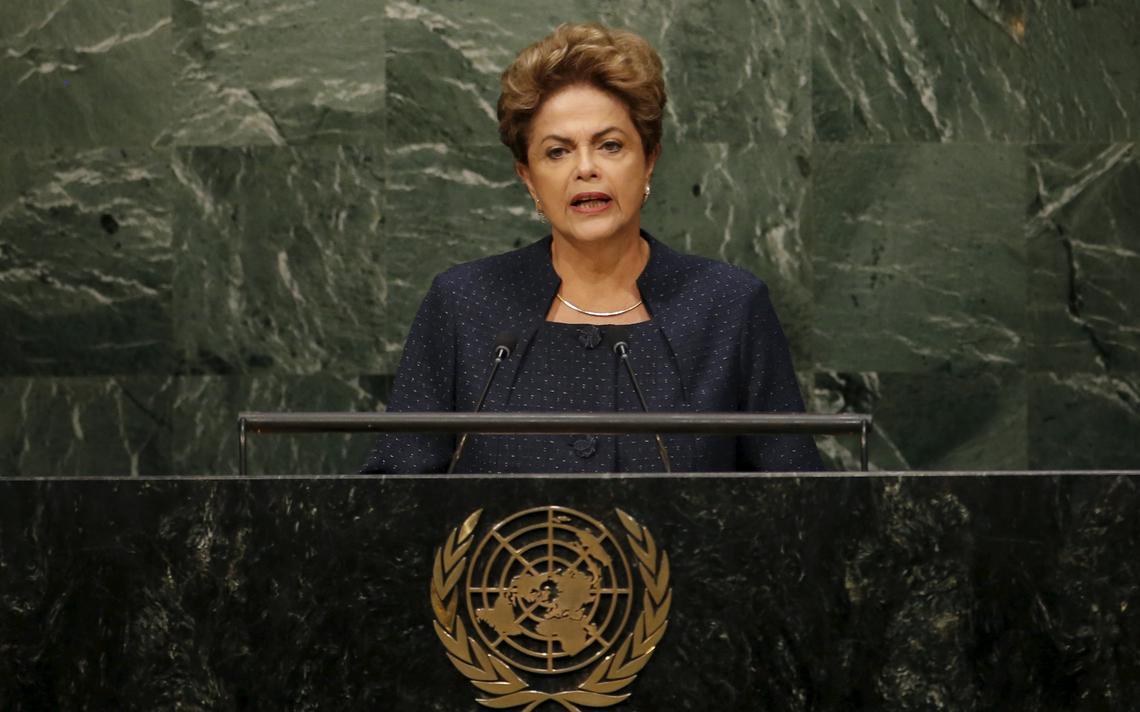 Dilma discursa em assembléia da ONU, em Nova York