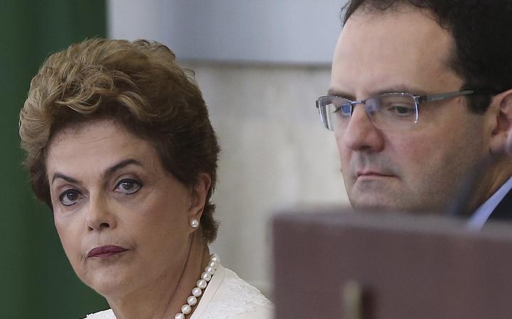 Dilma e Barbosa durante reunião do Conselhão, em Brasília