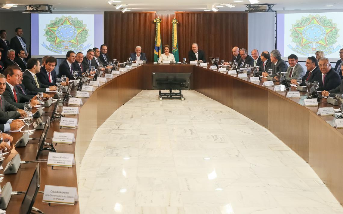 Reunião de Dilma com governadores para tratar da dívida dos Estados