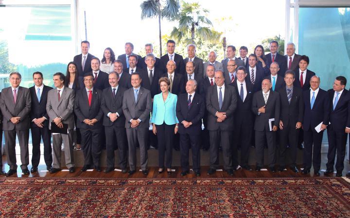 Dilma posa para foto com governadores no Palácio da Alvorada