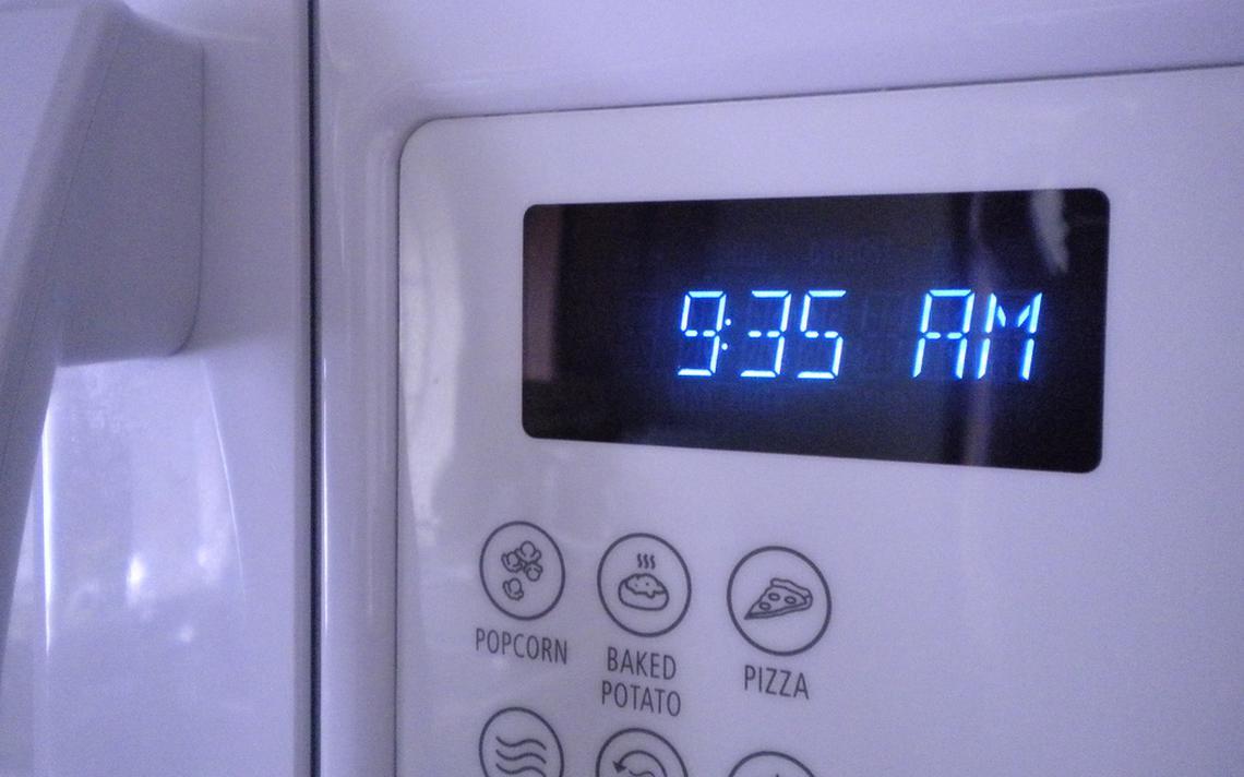 Display de microondas também gasta energia