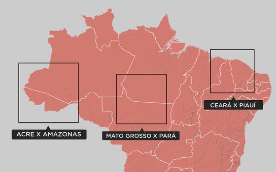Três disputas de território entre os Estados brasileiros