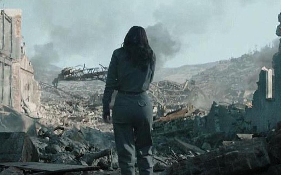 Distrito 12 em ruínas