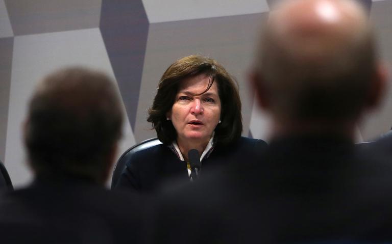 Raquel Dodge durante sabatina no Senado Federal