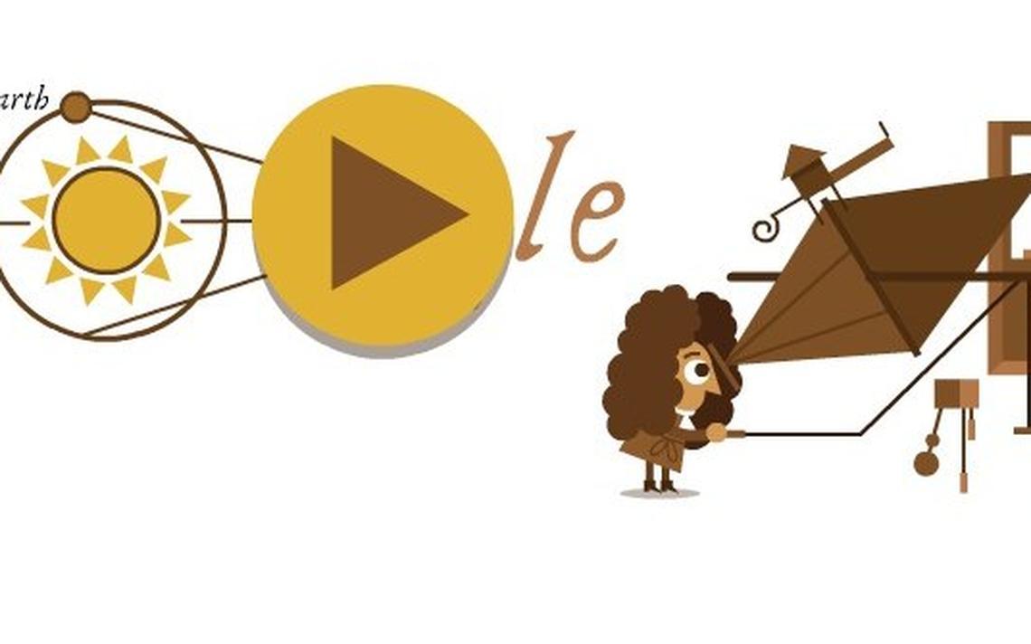 Na imagem, aparece um desenho de Ole Rømer, homem responsável pela primeira medição da velocidade da luz