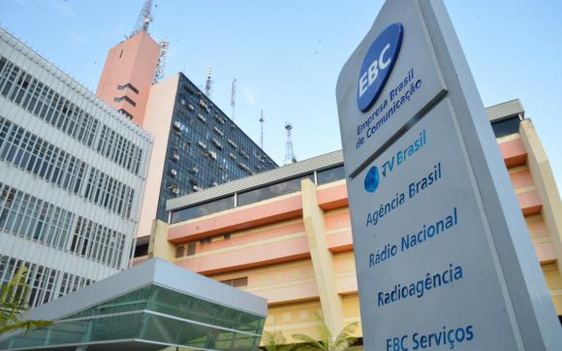 Entrada da sede da EBC em Brasília