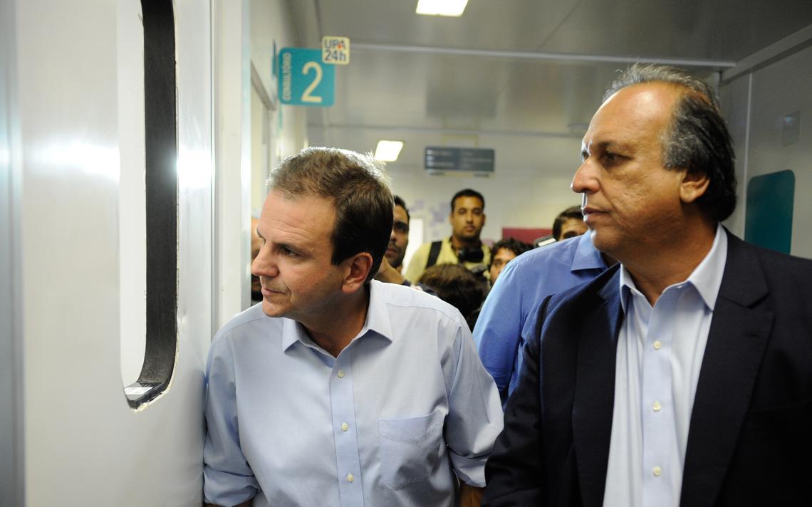 Prefeito do Rio, Eduardo Paes, e governador do Rio, Luiz Fernando Pezão