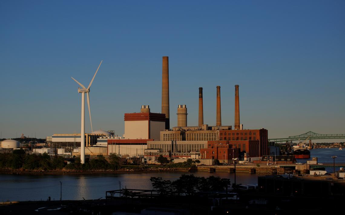 Turbina eólica em Massachusetts