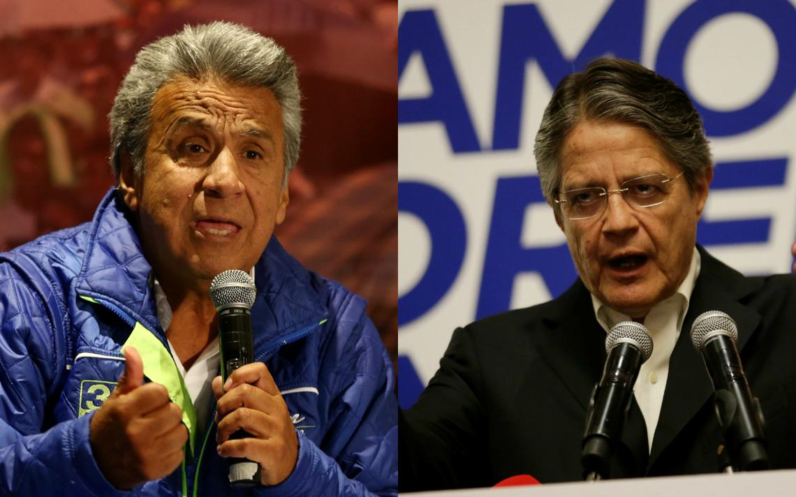 Candidatos dispuitarão segundo turno presidencial em abril no Equador