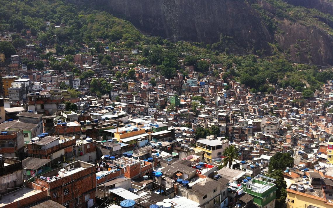 Comunidade da Rocinha, onde um novo sistema de georreferenciamento está sendo testado