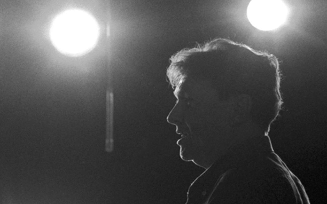 Fernando Faro na gravação do programa 'Ensaio', em 1991