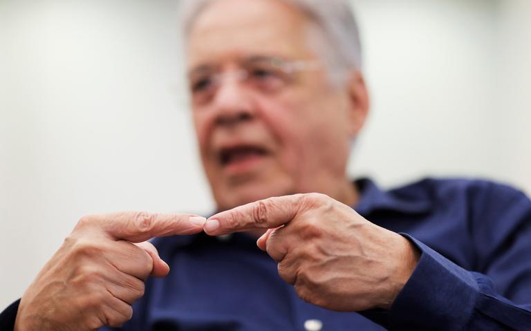 Ex-presidente FHC concede entrevista em São Paulo