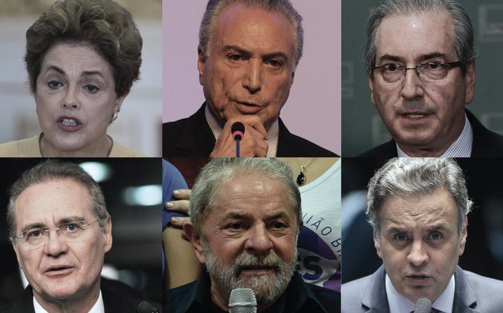 Dilma, Temer, Cunha, Renan, Lula e Aécio protagonizam política no Brasil