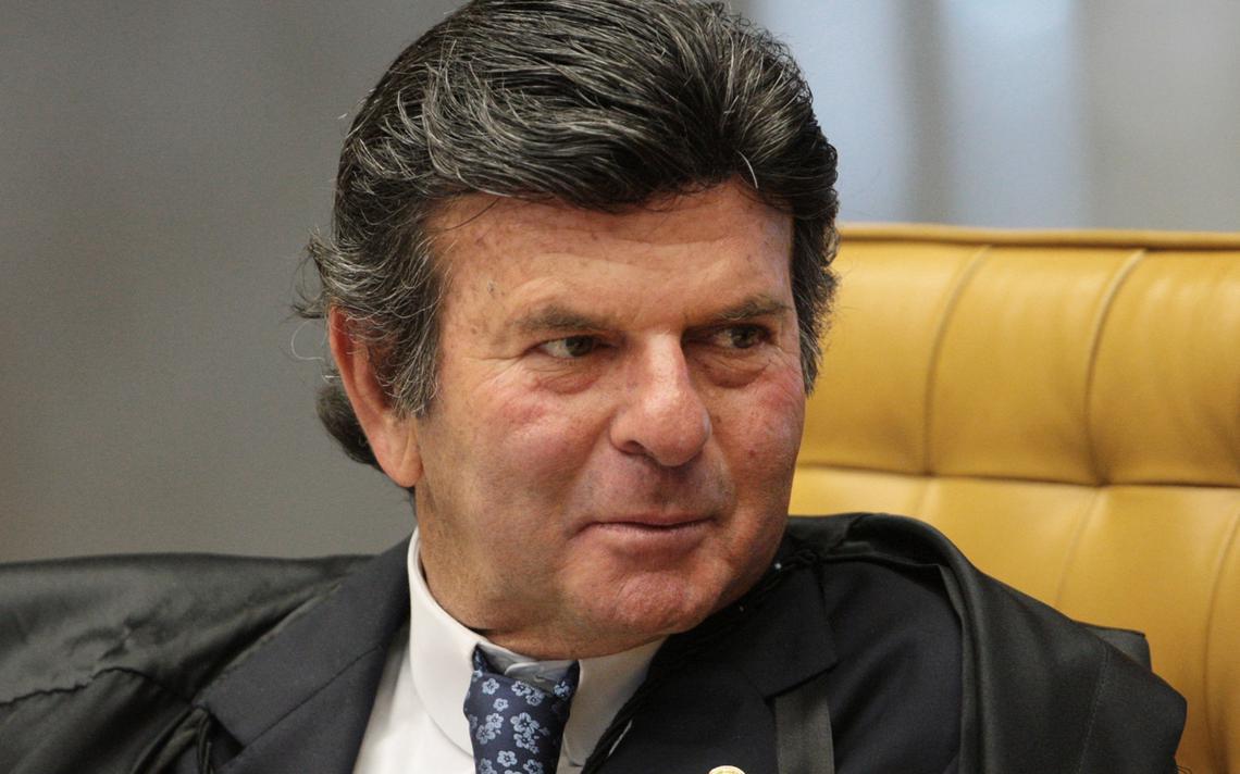 Luiz Fux durante sessão do Supremo Tribunal Federal