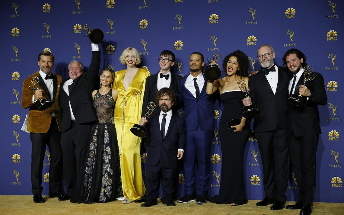 Elenco e produtores de 'Game of Thrones', eleita a melhor série dramática no Emmy 2018