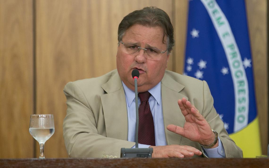 Geddel Vieira Lima em entrevista no Palácio do Planalto