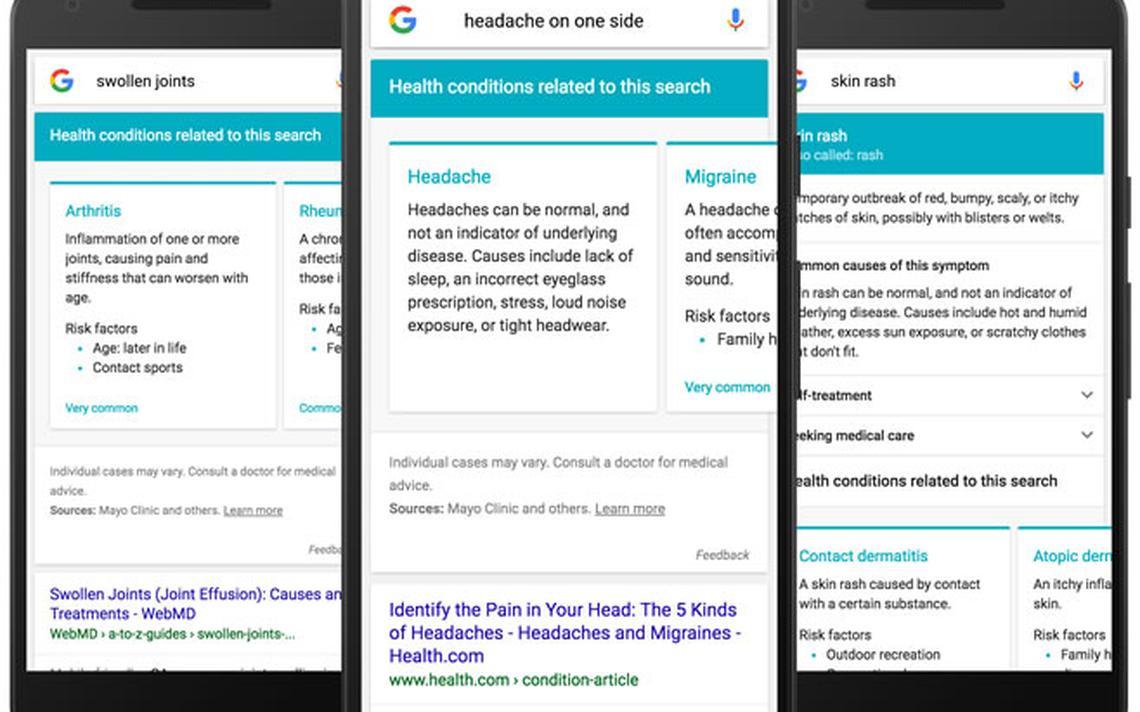 Como será a busca por sintomas no Google