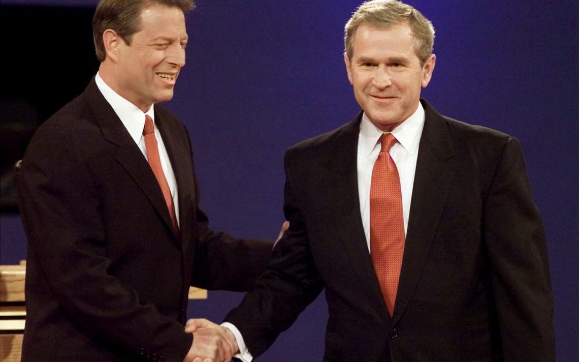 Gore e Bush se enfrentaram em 2000