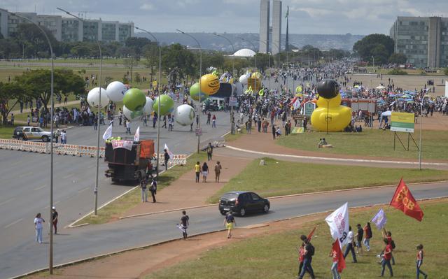 Greve de 28 de abril de 2017, em Brasília