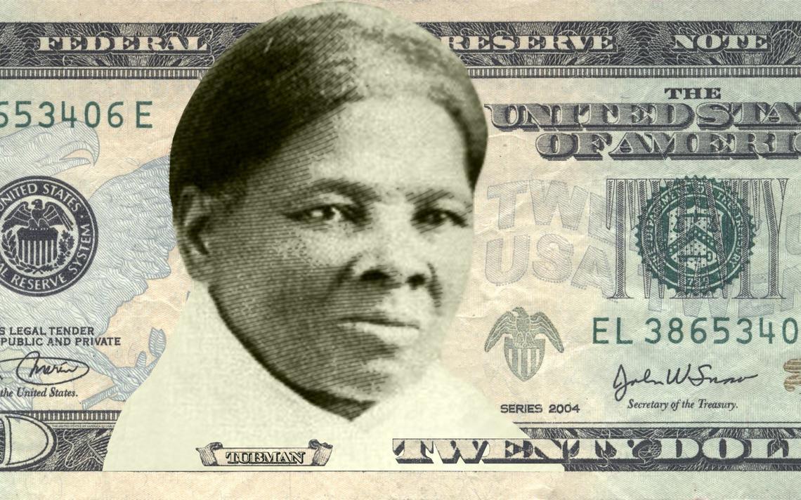 Imagem da abolicionista Harriet Tubman na nota de US$ 20