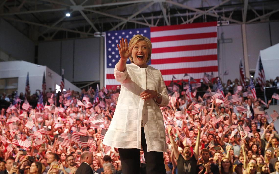 Candidata à nomeação dos Democratas para a Casa Branca em campanha nas primárias dos Estados Unidos