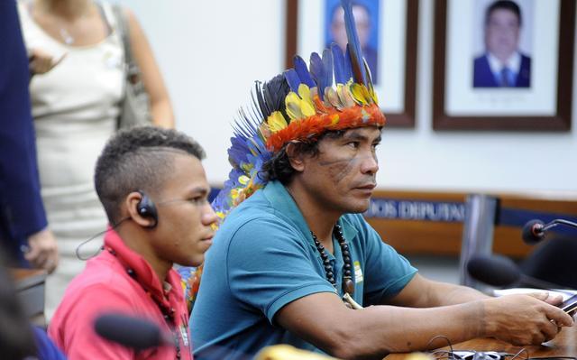 Índio acompanha audiência com relatora da ONU na Câmara