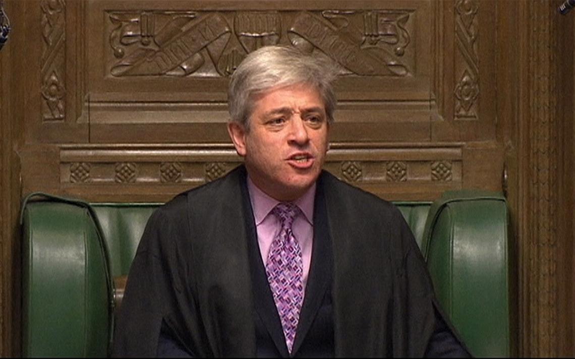 John Bercow em atividade como presidente da Câmara no Reino Unido