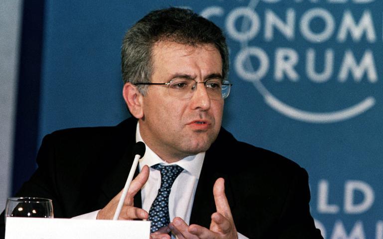Ex-ministro Antônio Kandir durante encontro do Fórum Econômico Mundial em 1997