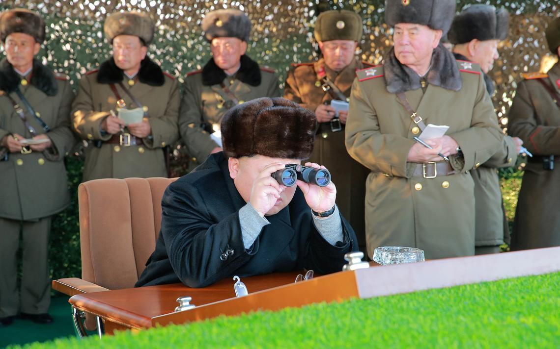 Imagem divulgada pela agência de notícias da Coreia do Norte