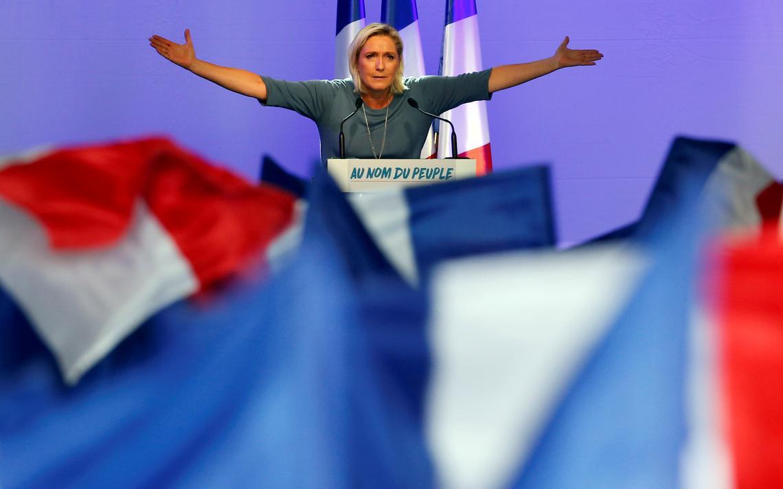 Candidata da extrema-direita à presidência francesa em 2017