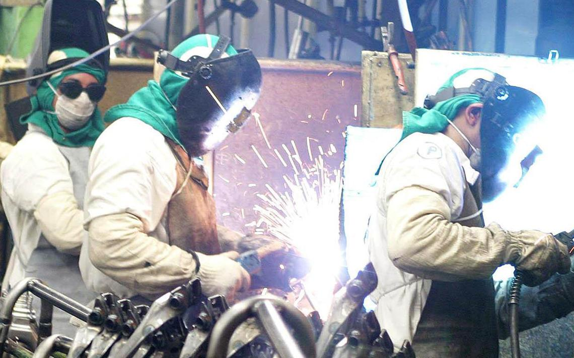Linha de produção industrial