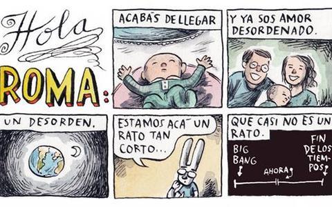 Quais conselhos o quadrinista Ricardo Liniers deu a sua afilhada recém-nascida