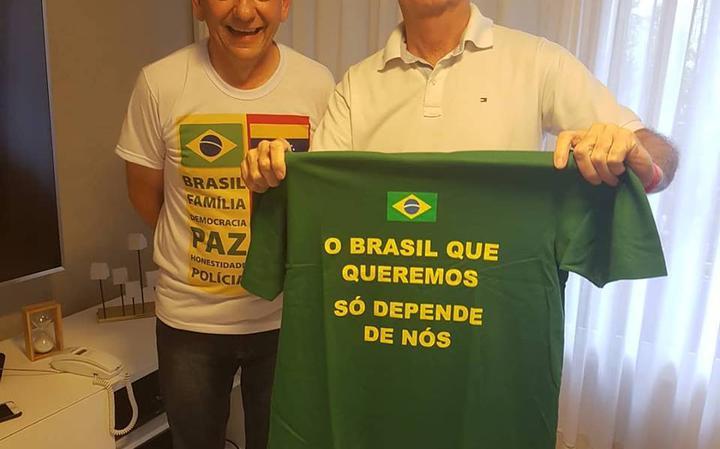Luciano Hang e Jair Bolsonaro (PSL)