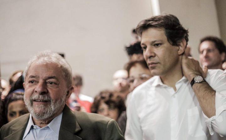 Lula e Fernando Haddad
