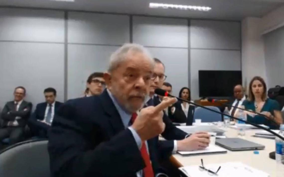 Ex-presidente Luiz Inácio Lula da Silva presta depoimento à Justiça Federal no âmbito do processo sobre o sítio de Atibaia, no qual é réu