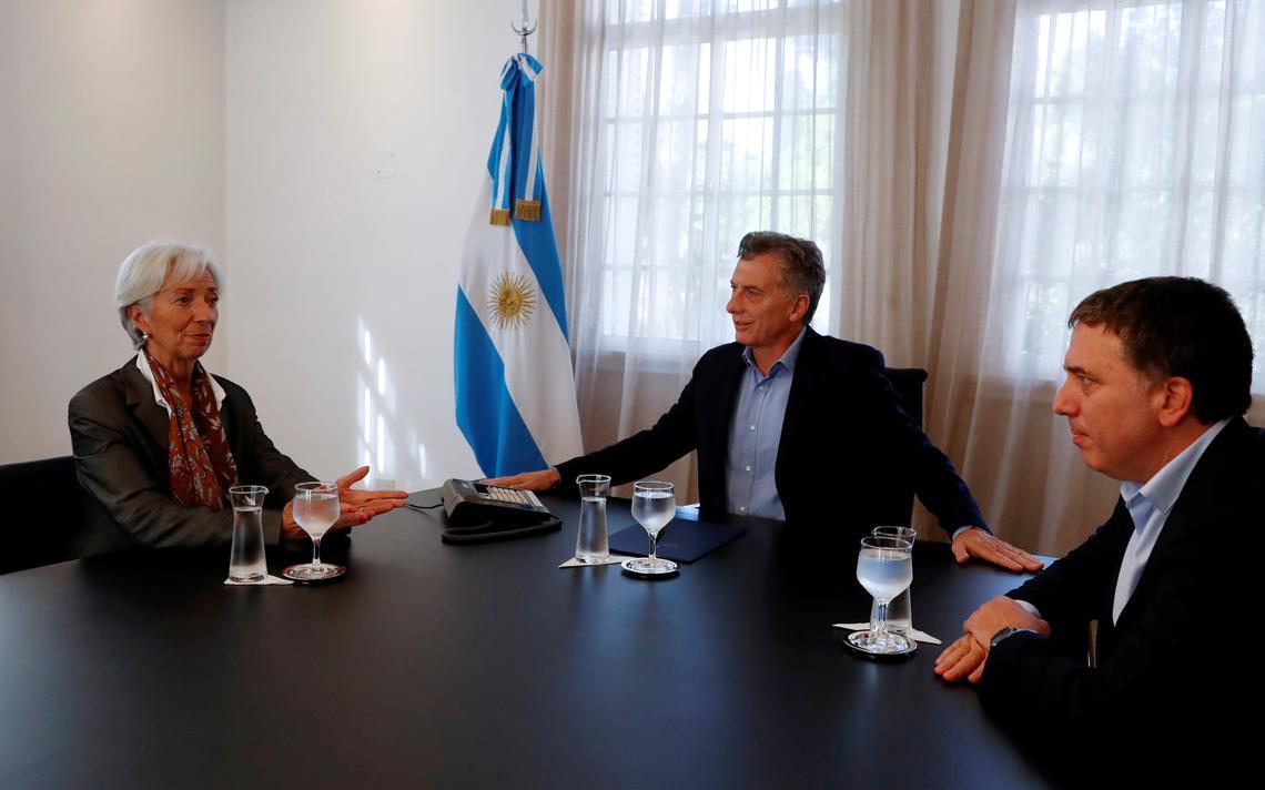 Presidente do FMI, Christine Lagarde, é recebida pelo presidente Macri e o ministro Dujovne em Buenos Aires