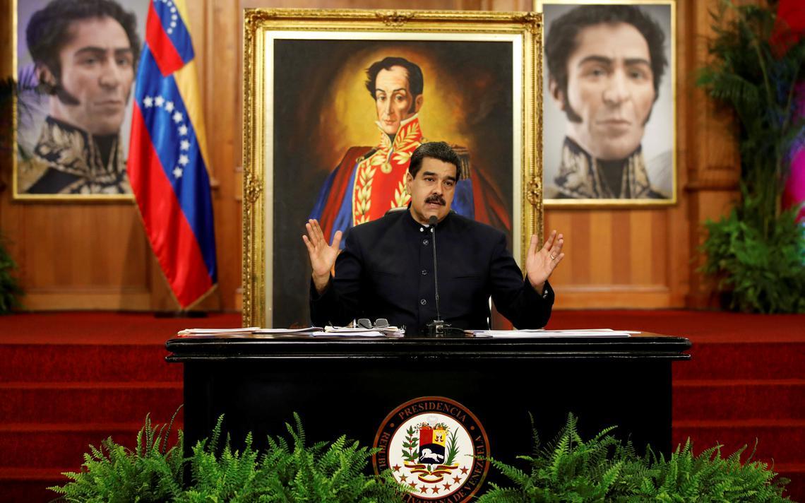 Nicolás Maduro fala em entrevista no Palácio de Miraflores, em Caracas