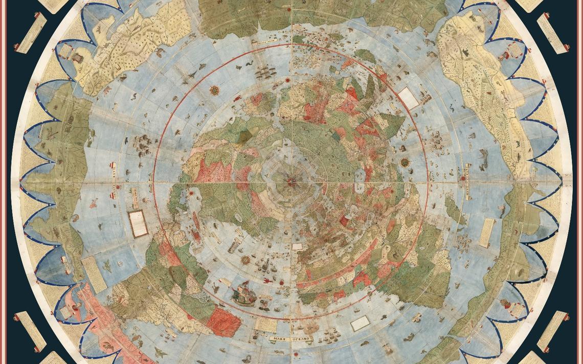 Pesquisadores montaram as 60 páginas do mapa-múndi de Monte
