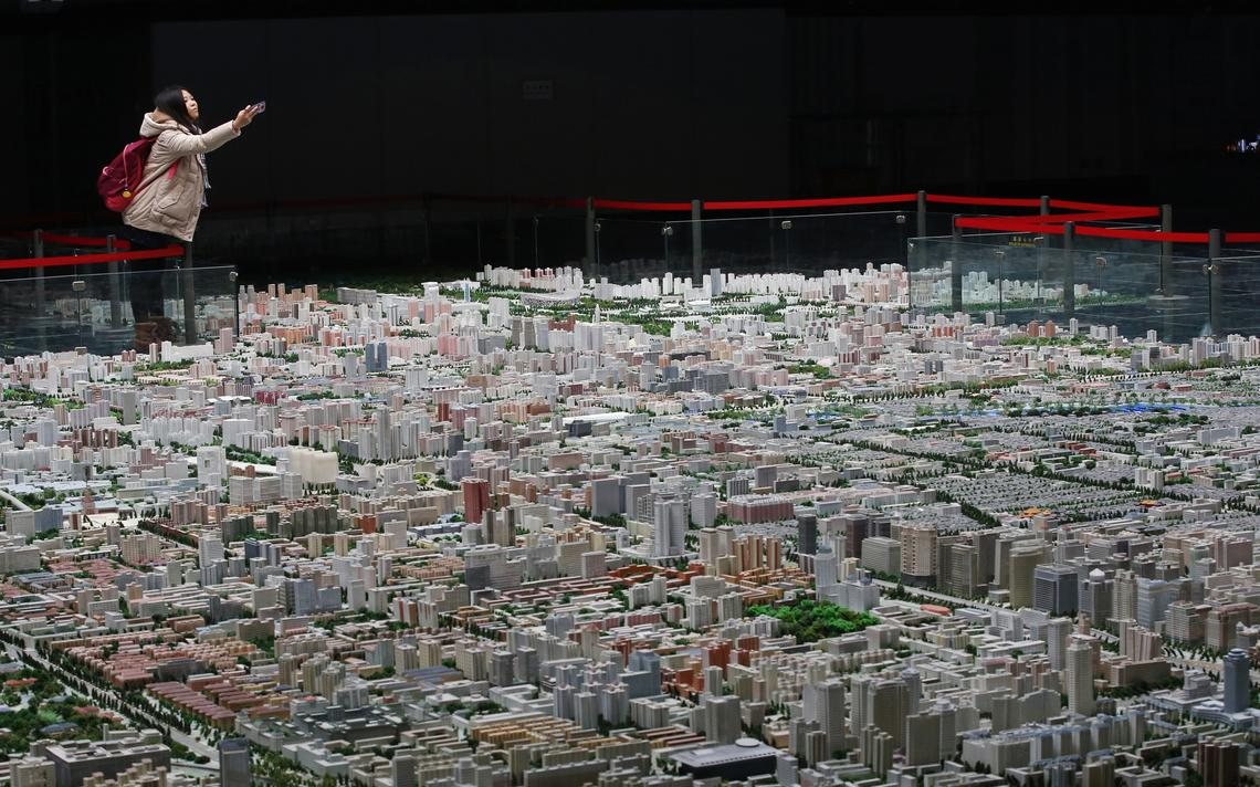 Centro de capital chinesa é modelado em maquete