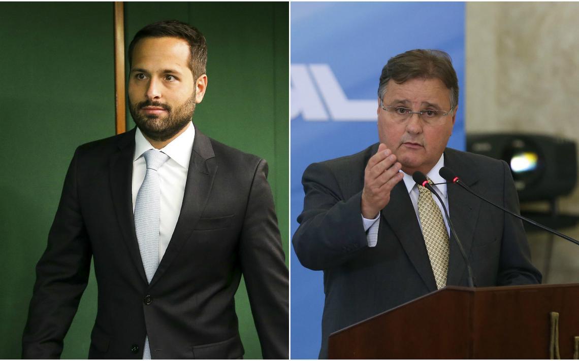 Ex-ministro da Cultura Marcelo Calero e ministro Geddel Vieira Lima