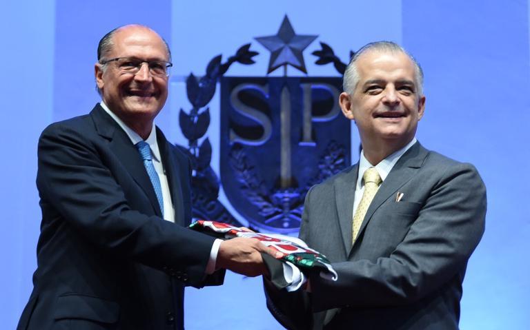 Alckmin e Márcio França durante a transmissão de ca
