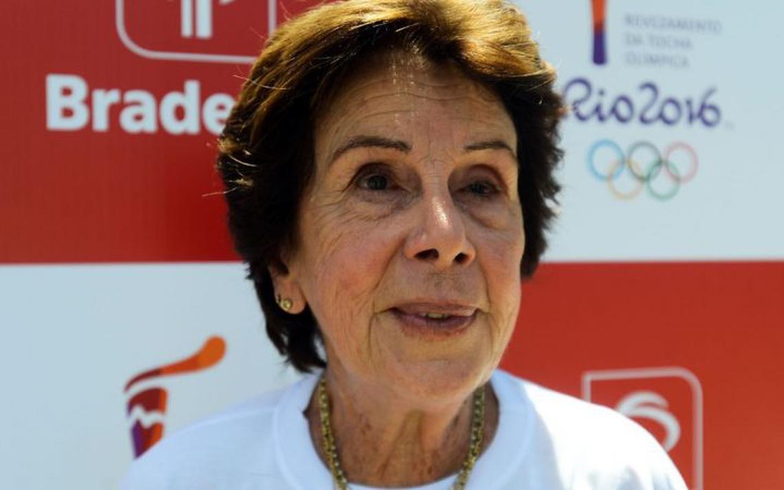 A tenista Maria Esther Bueno, durante evento nos Jogos Olímpicos de 2016